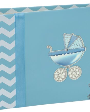 άλμπουμ ασημένιο σιέλ - blue photo album silver