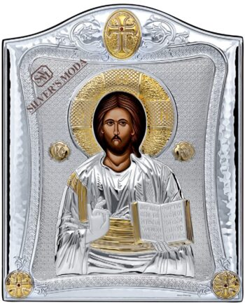 εικόνα του Χριστού ασημένια