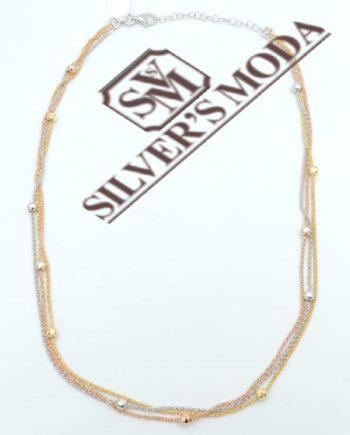 ασημένιο κολιέ, σε τρεις αποχρώσεις-silver necklace