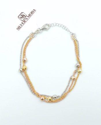ασημένιο βραχιόλι, σε τρεις αποχρώσεις-silver bracelet