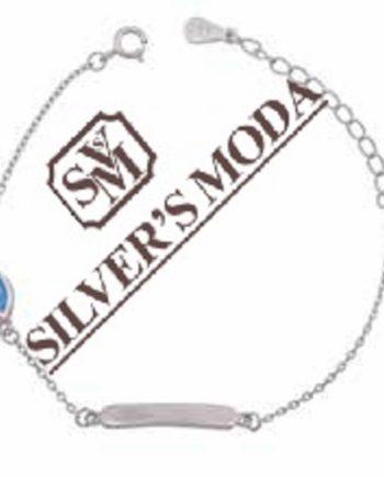 ασημένιο παιδικό βραχιόλι, επίχρυσο-silver kids bracelet