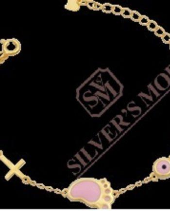 ασημένιο βραχιόλι, επίχρυσο-silver bracelet