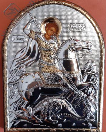 Άη Γιώργης, Αγίου Γεωργίου ασημένια εικόνα - holy icon Saint George