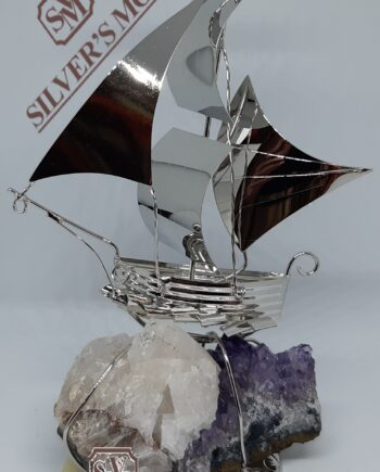 καράβι πανιά αμέθυστο -silver ship amethyst